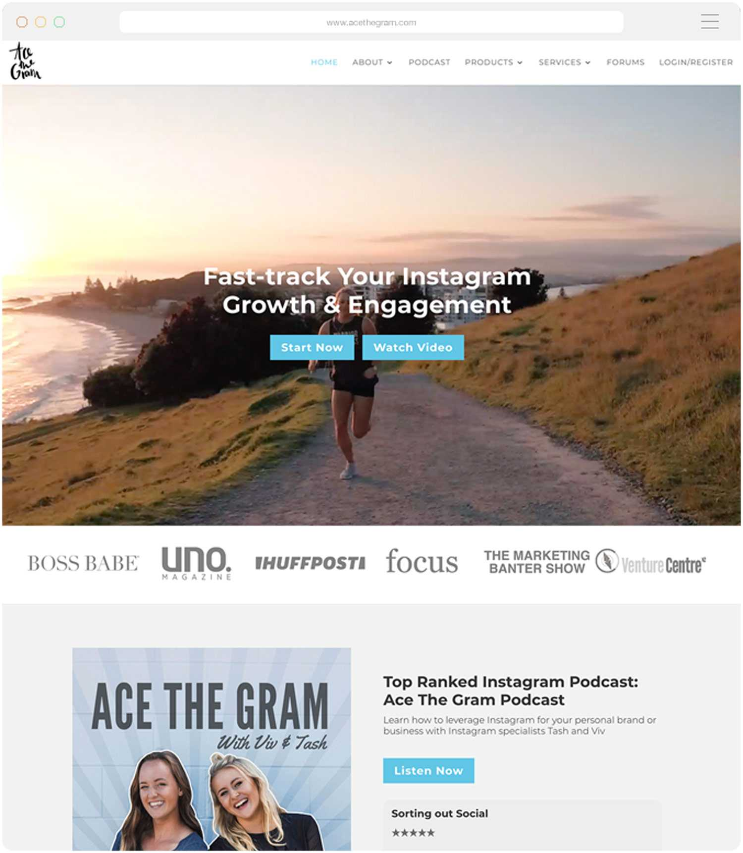 Website design and build for Ace The Gram