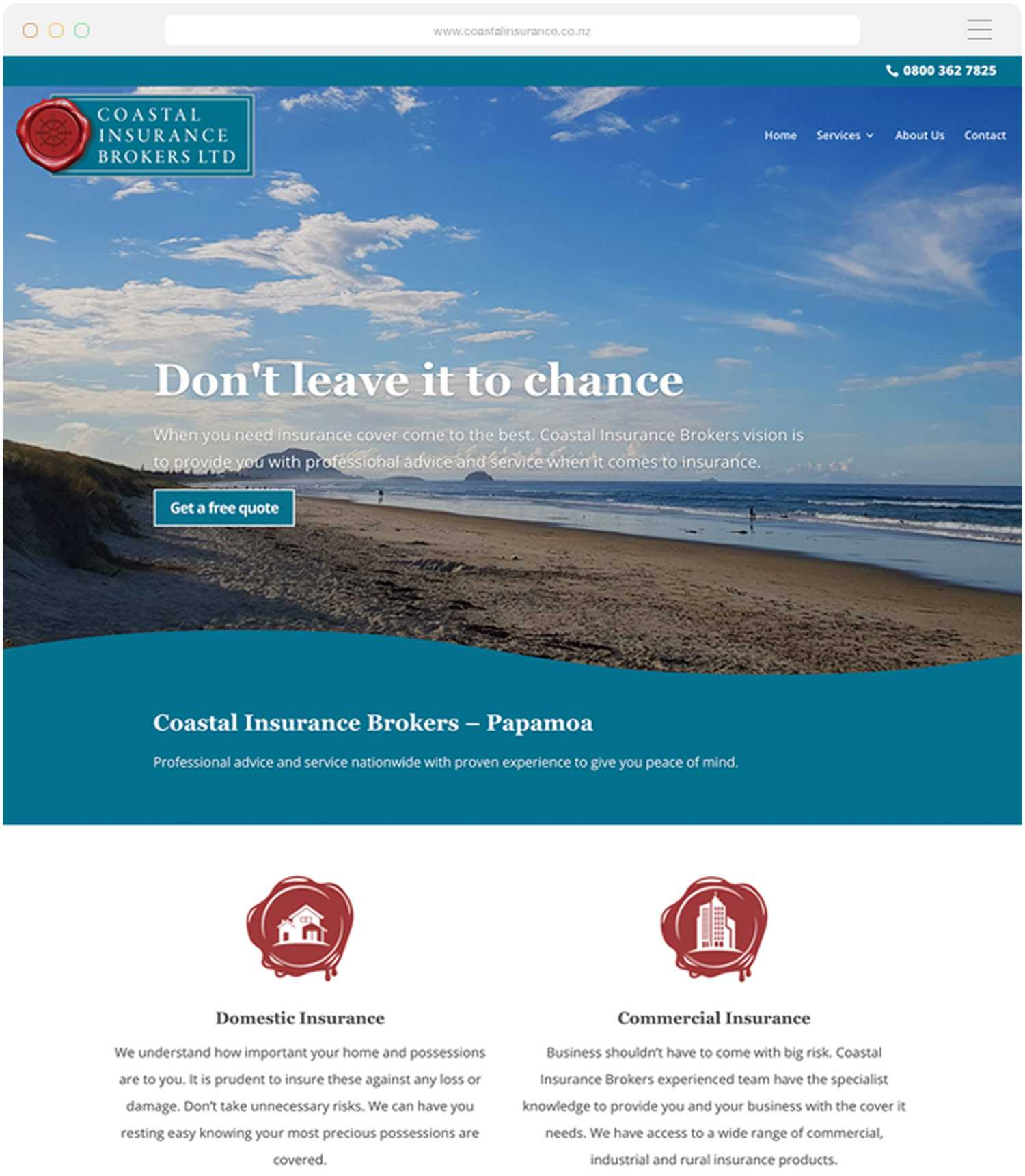 Website build for Coastal Insurance Brokers