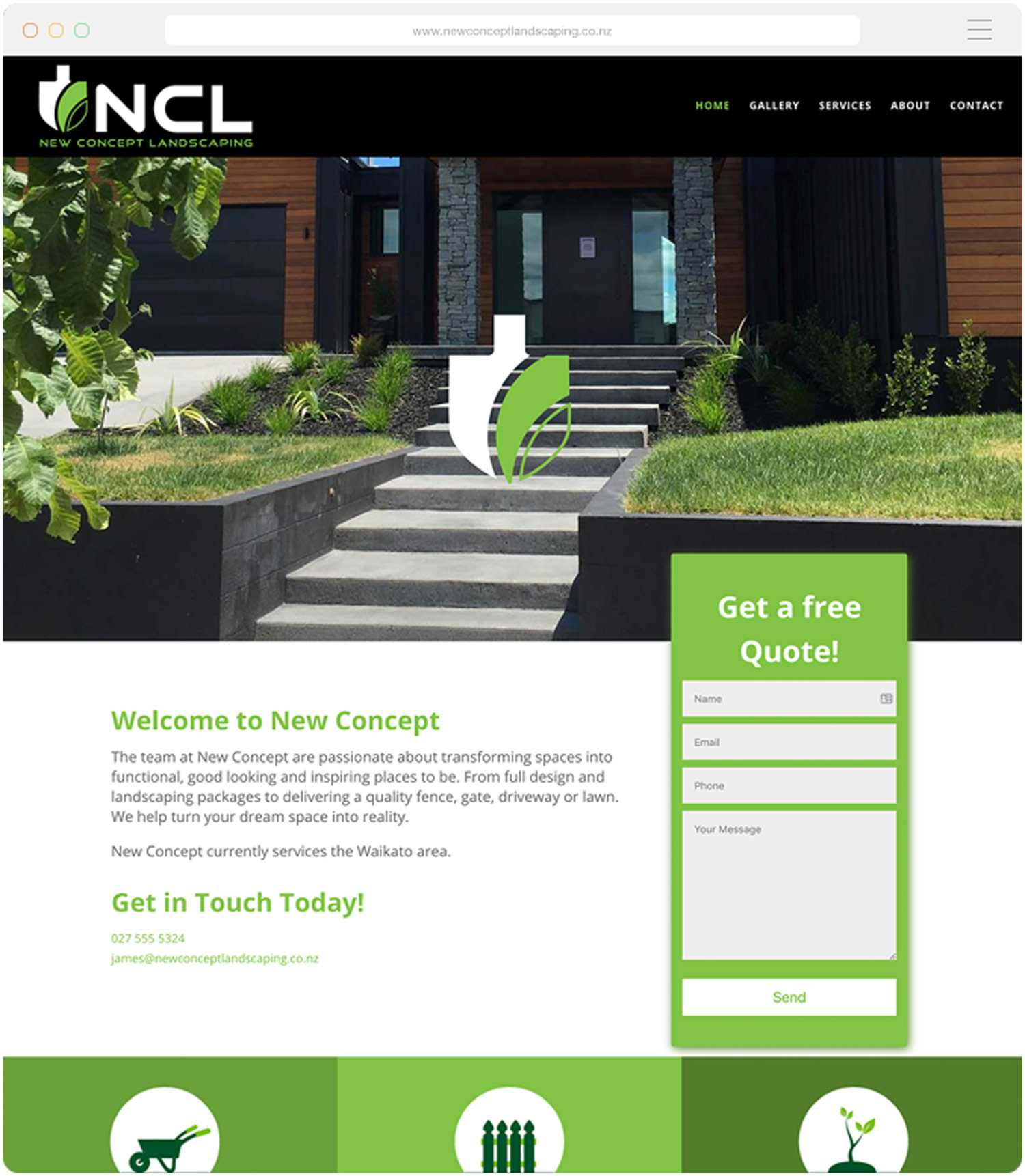 Landscaping Websitee Build for NCL