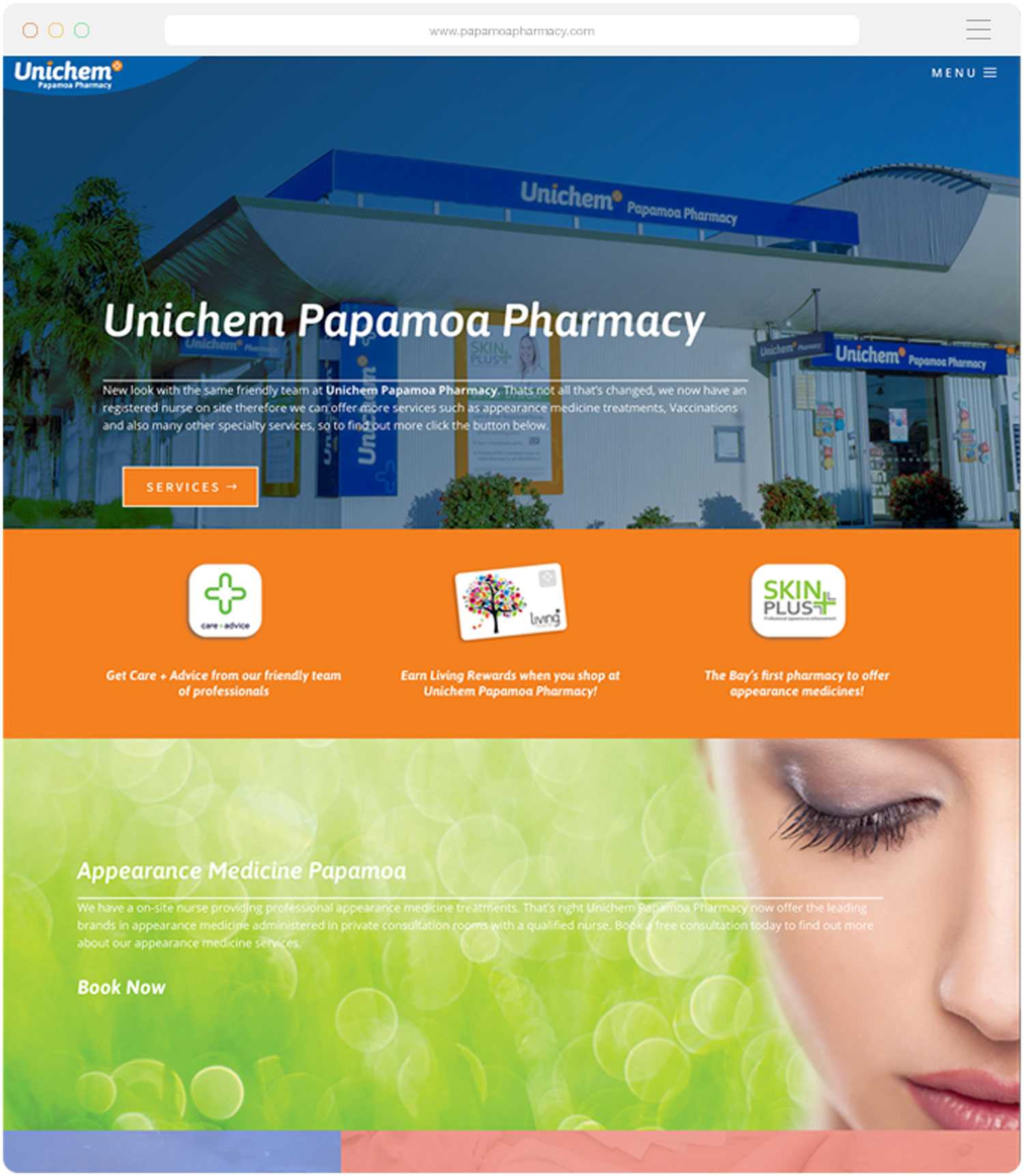 Website build for Papamoa Pharmacy