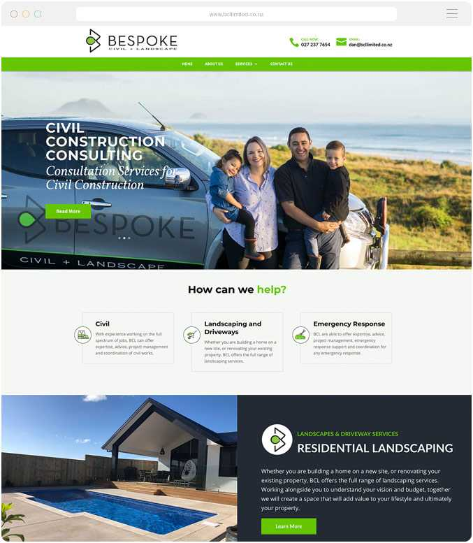 Website design and build for Bespoke