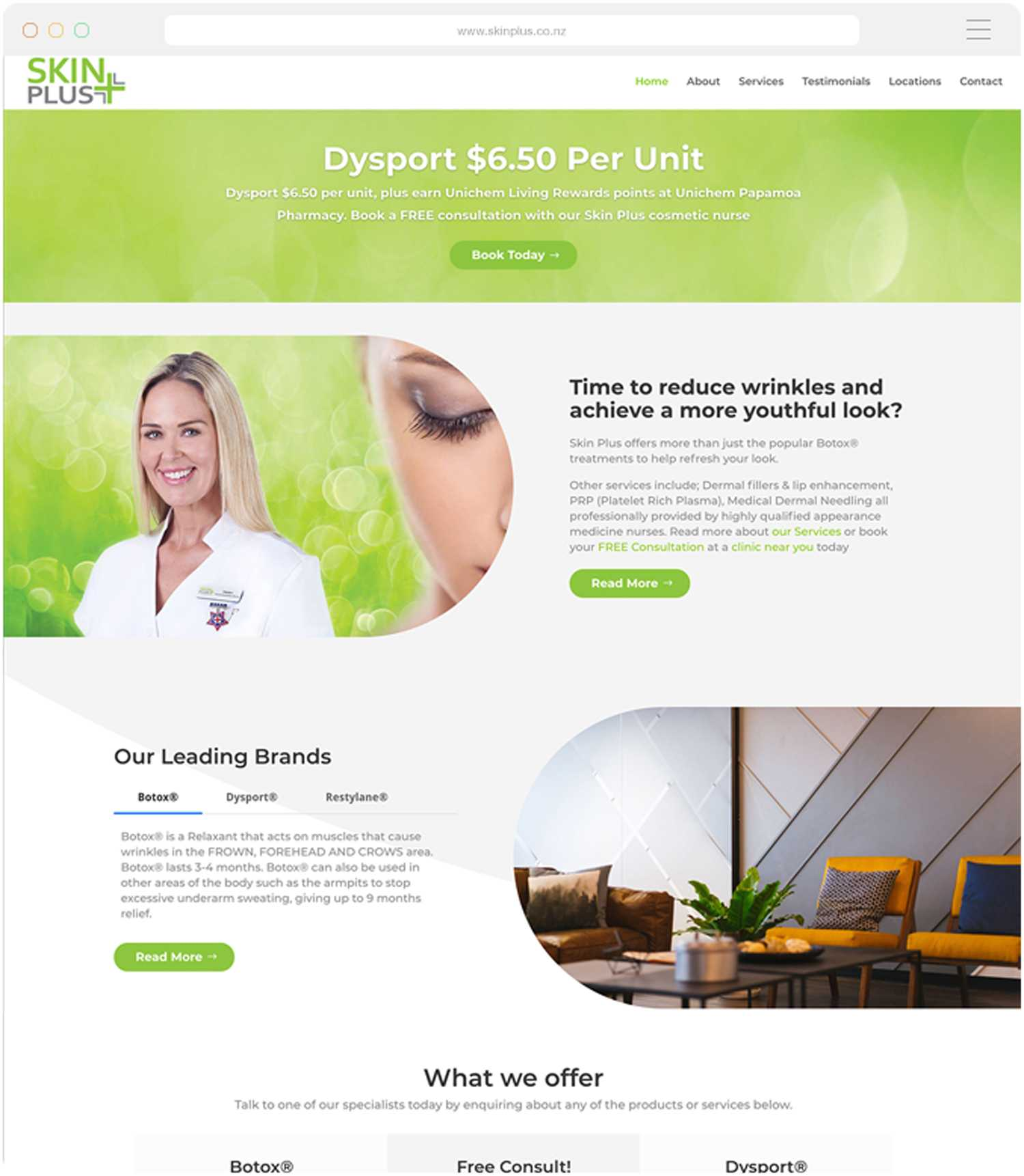 Website design and build for Skin Plus