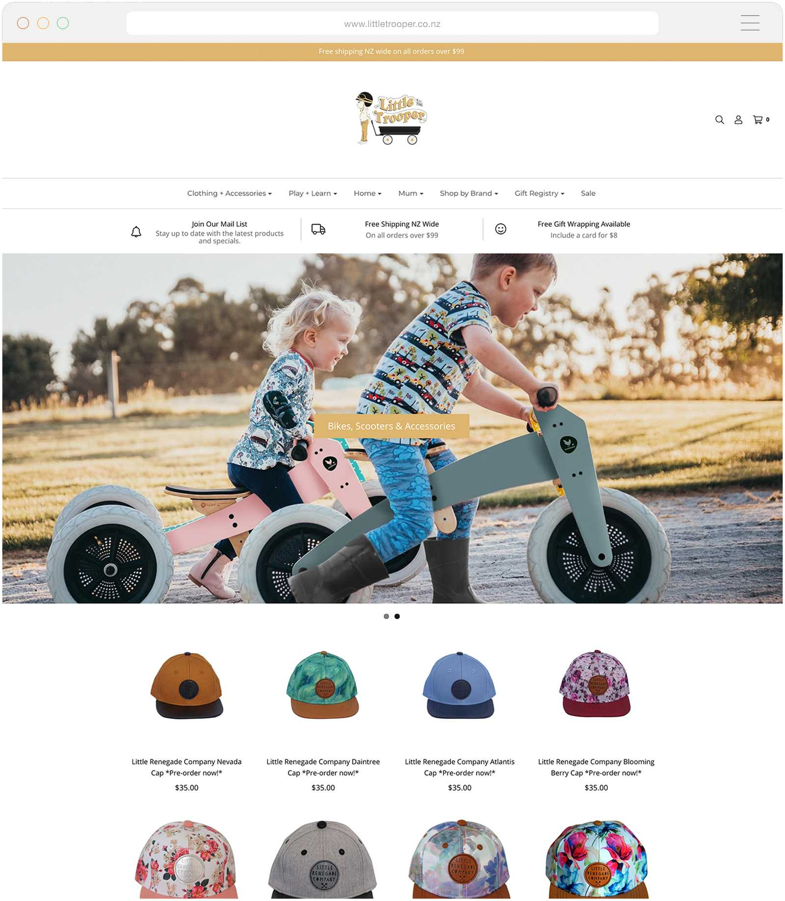 Shopify Websites Tauranga - Little Trooper