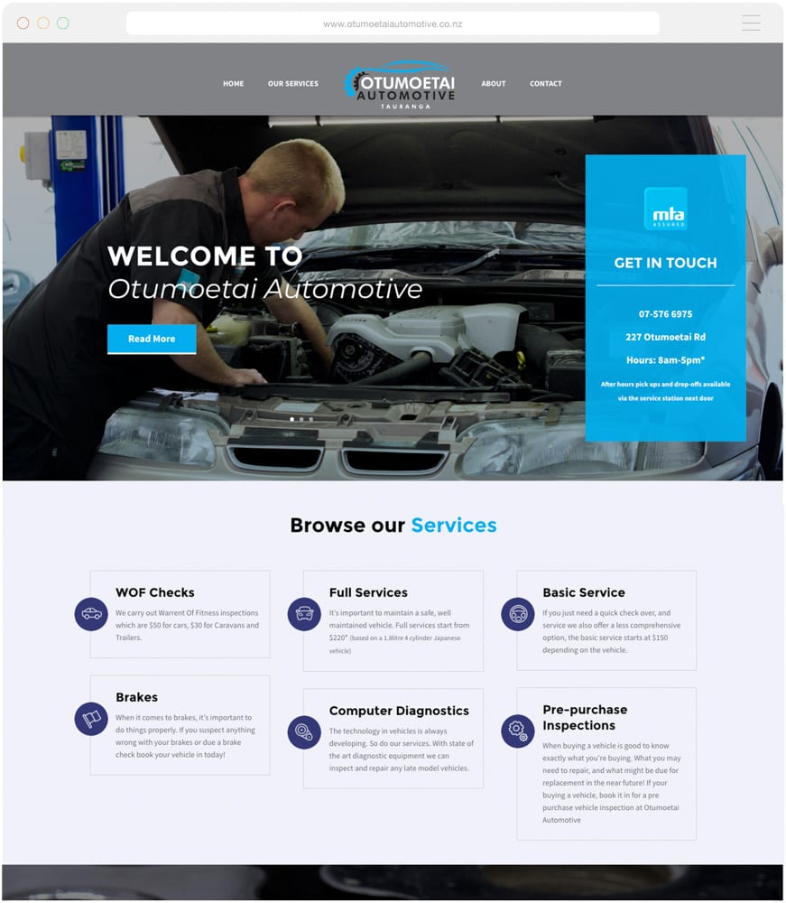 Tauranga Website Design for the Equipment Centre